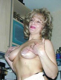 Lustful blonde grandma..