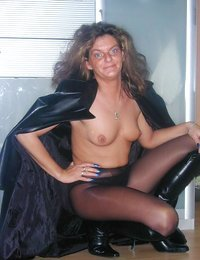 Nasty grandma in nylons..